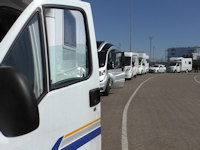 motorhomes at ferry terminal