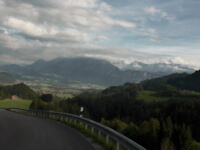 German Alpine Road with mountains in the background